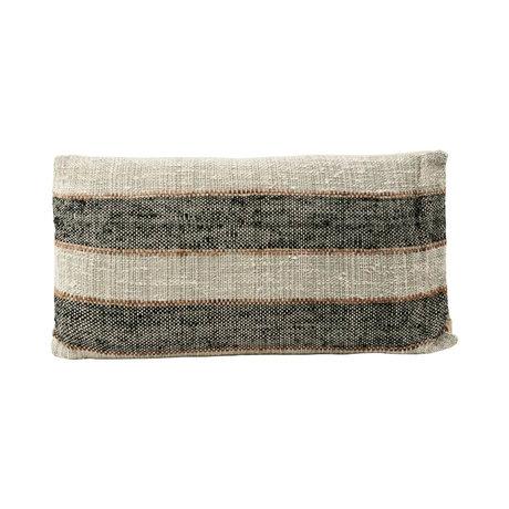 Housedoctor Taie d'oreiller Linn gris coton 40x75cm
