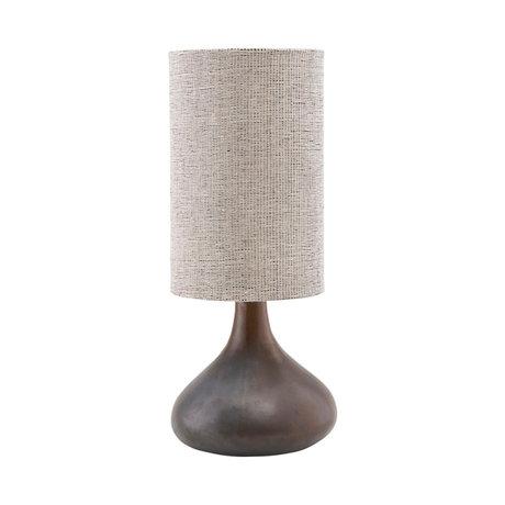 Housedoctor Lamp base Diayia brown earthenware Ø26x34cm
