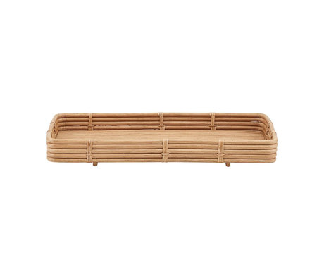 Housedoctor Orga tray natural brown rattan 52x30x6cm