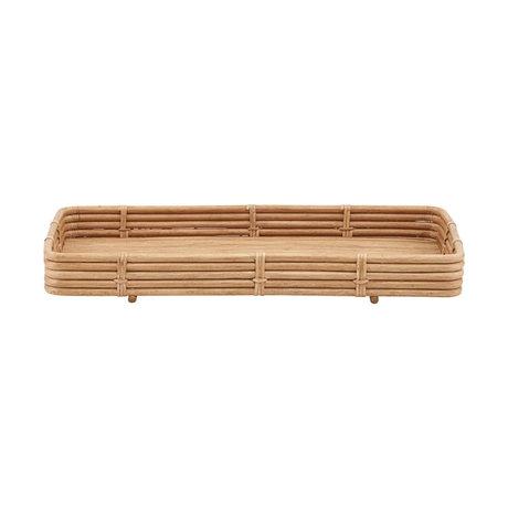 Housedoctor Orga Tablett naturbraun Rattan 52x30x6cm