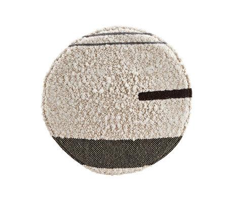 Housedoctor Coussin d'assise Rampur coton blanc cassé Ø38cm