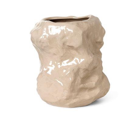 Ferm Living Vuck Tuck cashmere beige glazed ceramic Ø34x40cm