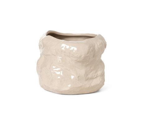 Ferm Living Pot Tuck en cachemire beige céramique émaillée Ø29x22cm