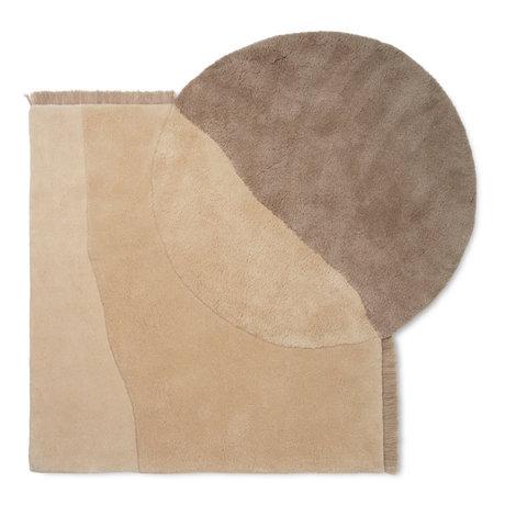 Ferm Living Carpet View beige wool 140x180cm