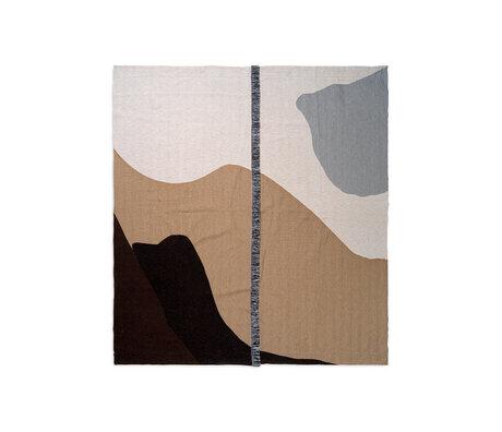Ferm Living Couvre-lit Vista sable brun textile 180x140cm