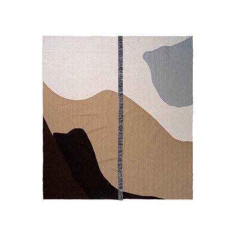 Ferm Living Bedspread Vista sand brown textile 180x140cm