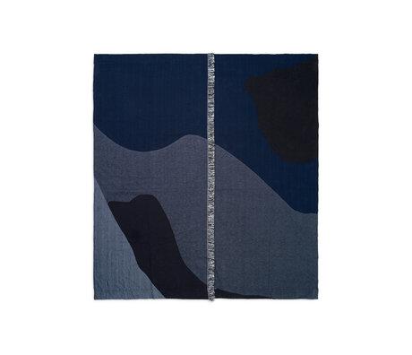 Ferm Living Couvre-lit Vista textile bleu foncé 180x140cm