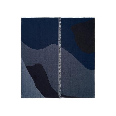 Ferm Living Bedspread Vista dark blue textile 180x140cm
