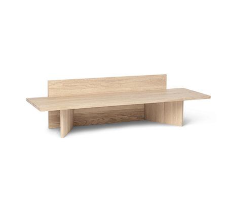 Ferm Living Bench Oblique Eiche natur 120x40x33 cm