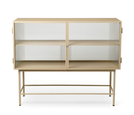 Ferm Living Haze cashmere beige glass sideboard and powder-coated metal 110x40x90cm