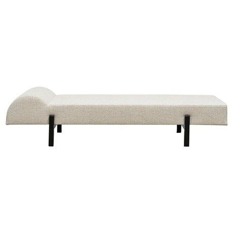 Housedoctor Bank Daybed Diva offwhite schwarz Polyester 180x70x35cm