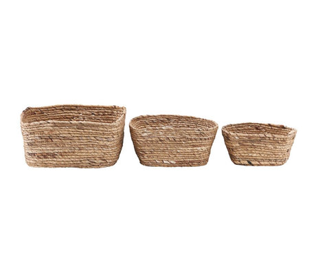 Housedoctor Basket Nangloi set of 3 natural brown seagrass
