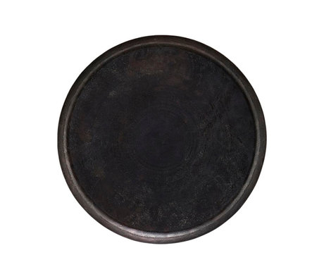 Housedoctor Jhansi tray antique brown aluminum Ø60x4cm
