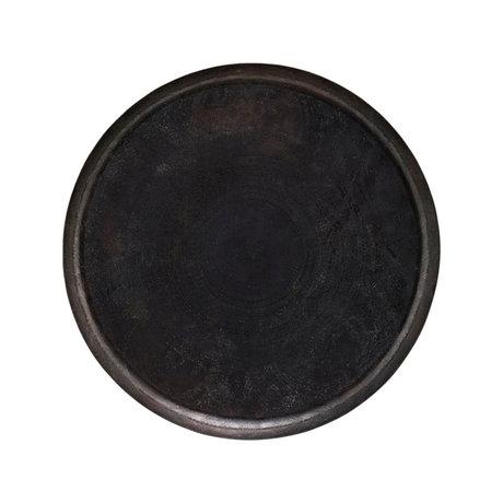 Housedoctor Plateau Jhansi en aluminium brun antique Ø60x4cm