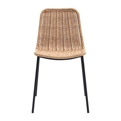 Housedoctor Dining room chair Hapur natural brown plastic metal 53x45x81cm