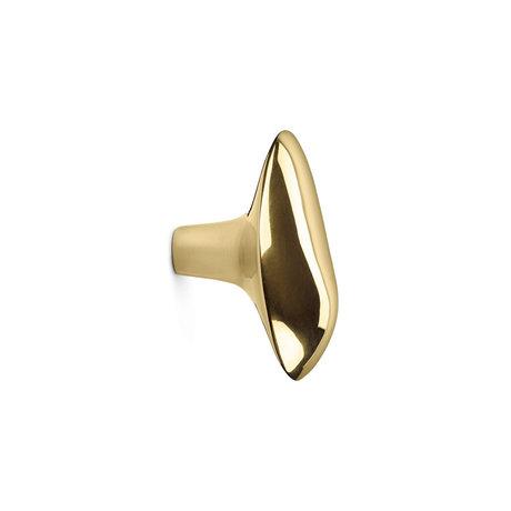 Ferm Living Chanterelle brass wall hook 6x4x7cm
