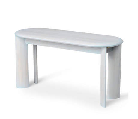 Ferm Living Dining room bench Bevel ice blue oiled oak 90x35x45cm