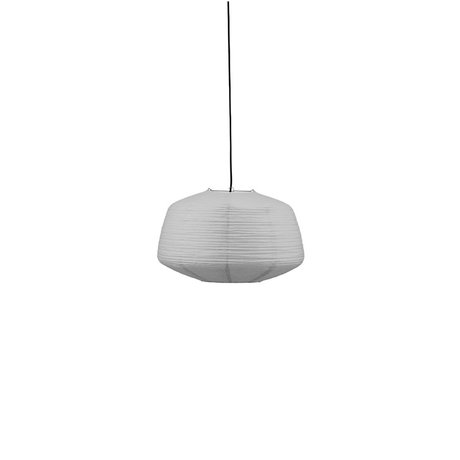 Housedoctor Lampenkap Bidar grijs rijstpapier Ø50x32cm
