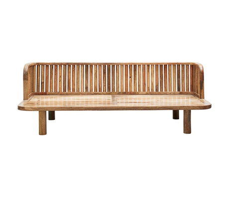 Housedoctor Garden bench Morena natural brown mango wood 180x70x60cm