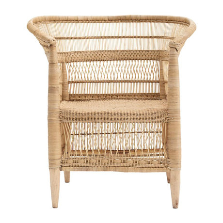 Housedoctor Rika chair with armrest natural brown rattan 45x78x78cm