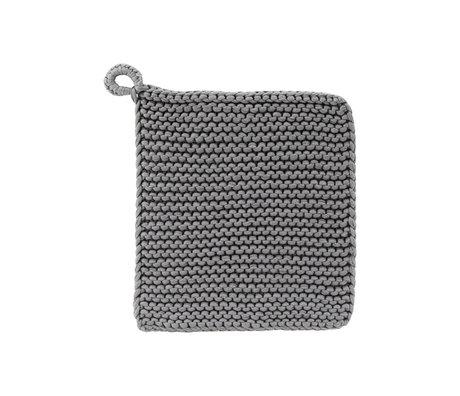 Housedoctor Maniques Grand coton gris 24x24cm