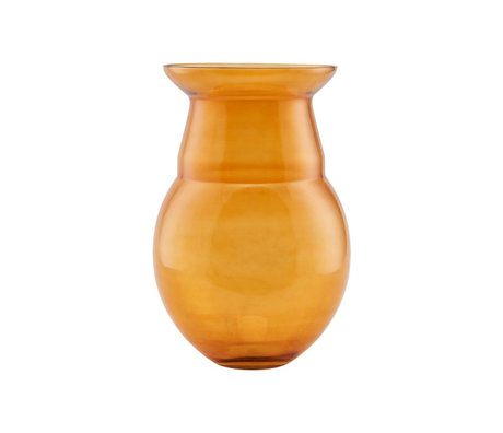 Housedoctor Vase Airy senfgelbes Glas Ø24x35cm