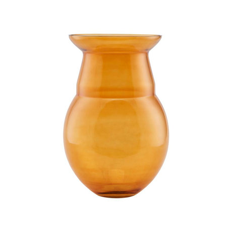 Housedoctor Vase Airy verre jaune moutarde Ø24x35cm