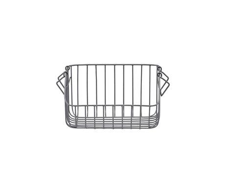 Housedoctor Storage basket Nagpur gray iron 28x20x16cm