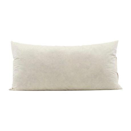 Housedoctor Coussin de rembourrage intérieur coton blanc crème 80x40cm