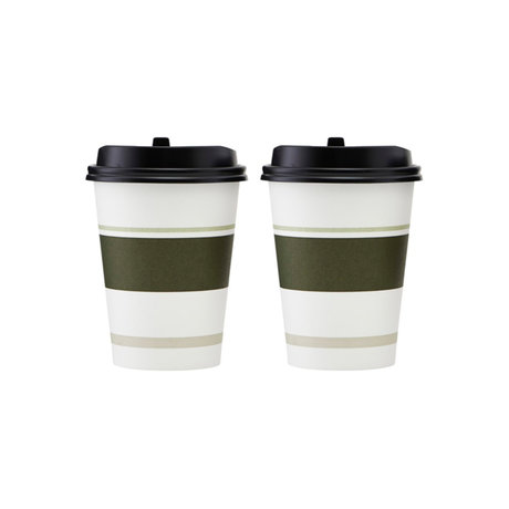 Housedoctor Paper cup set of 2 To go multicolour Ø9x11cm