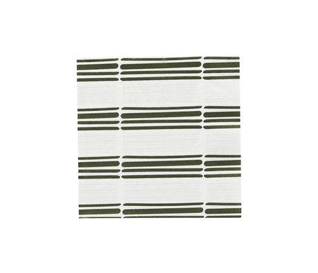 Housedoctor Servietten Strich 2 hellgrün Papier 20x20cm