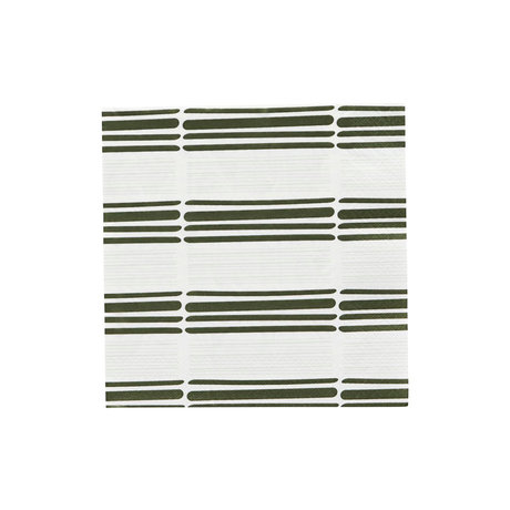 Housedoctor Servetten Stroke 2 licht groen papier 20x20cm