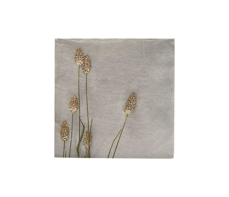 Housedoctor Napkins Grass 2 light gray paper 20x20cm