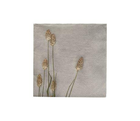 Housedoctor Servietten Grass 2 hellgrau Papier 20x20cm