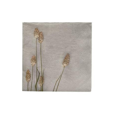 Housedoctor Servetten Grass 2 licht grijs papier 20x20cm