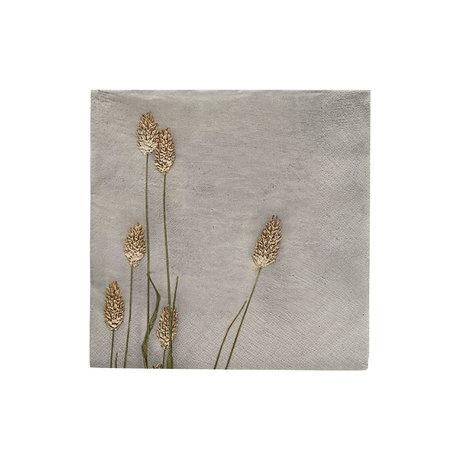 Housedoctor Serviettes Grass 2 papier gris clair 20x20cm