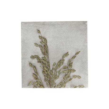 Housedoctor Serviettes Grass 1 papier gris clair 20x20cm