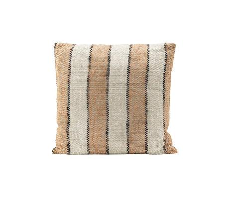 Housedoctor Pillowcase Linn orange cotton 50x50cm