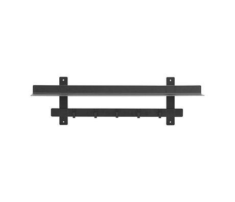 Housedoctor Wandrek Tag zwart staal 80x18,5x23cm