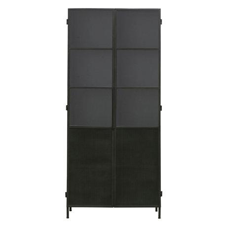 Housedoctor Kast Collect zwart ijzer glas 90x42x200cm