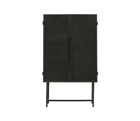 Housedoctor Vitrine Cabinet Collect fer noir 80x38x135cm