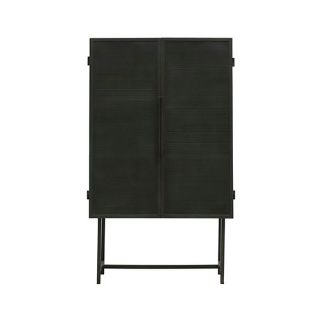 Housedoctor Kast Collect vitrine zwart ijzer 80x38x135cm