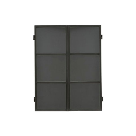 Housedoctor Wall cupboard Collect black iron 70x22x90cm