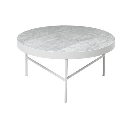 Ferm Living Coffee table Marble white marble metal Ø70,5x35cm