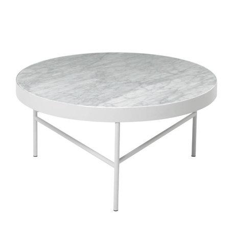 Ferm Living Salontafel Marble wit marmer metaal Ø70,5x35cm