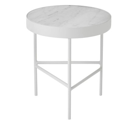 Ferm Living Salontafel Marble wit medium Ø40x45cm