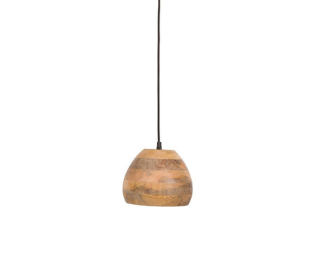 Dutchbone Woody hanging lamp brown wood Ø18x115cm