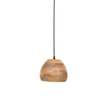 Dutchbone Woody Hängelampe aus braunem Holz Ø18x115cm
