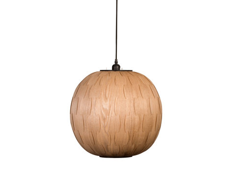 Dutchbone Hanging lamp Bond Round brown wood Ø40x166cm