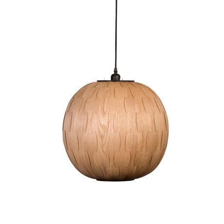 Dutchbone Hanglamp Bond Round bruin hout Ø40x166cm